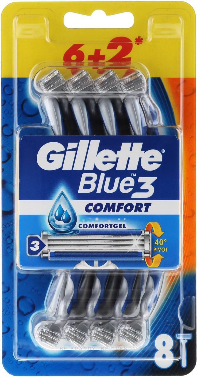 Gillette Blue 3 Comfort Одноразовые станки на блистере 8шт.