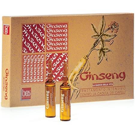 BES Ginseng Лосьон в ампулах против выпадения волос с экстрактом женьшеня, 12х10мл