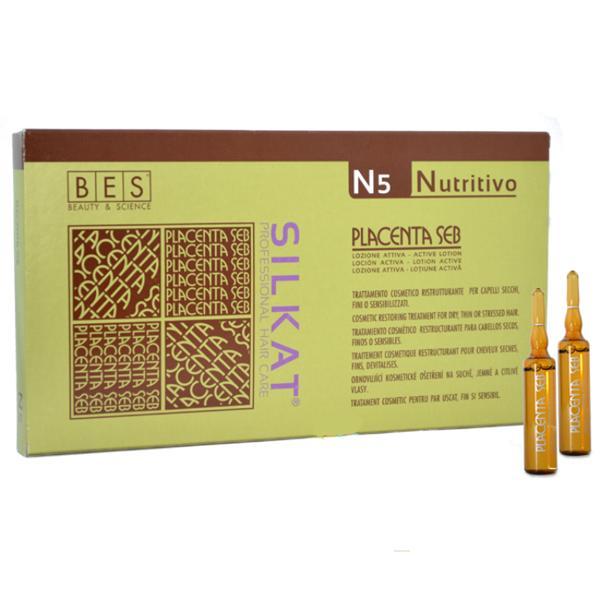 BES Silkat Nutritivo Лосьон в ампулах для восстановления структуры волос N5, 12х10мл
