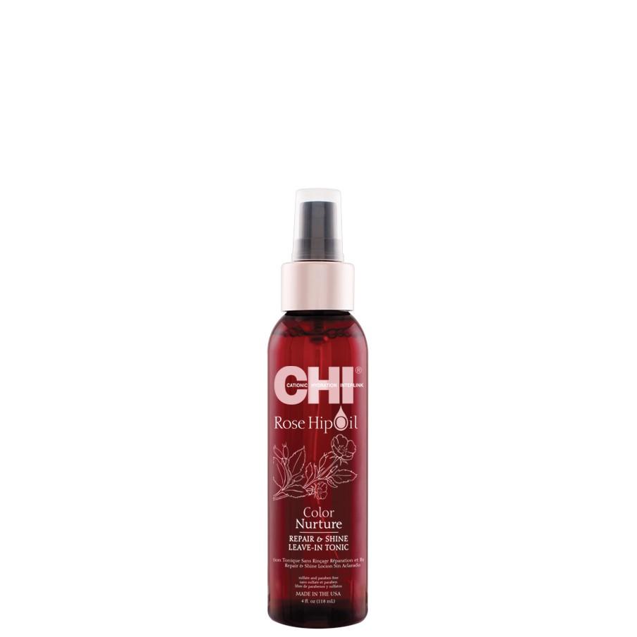 CHI Rose Hip Oil Несмываемый тоник с маслом шиповника для окрашенных волос, 118мл