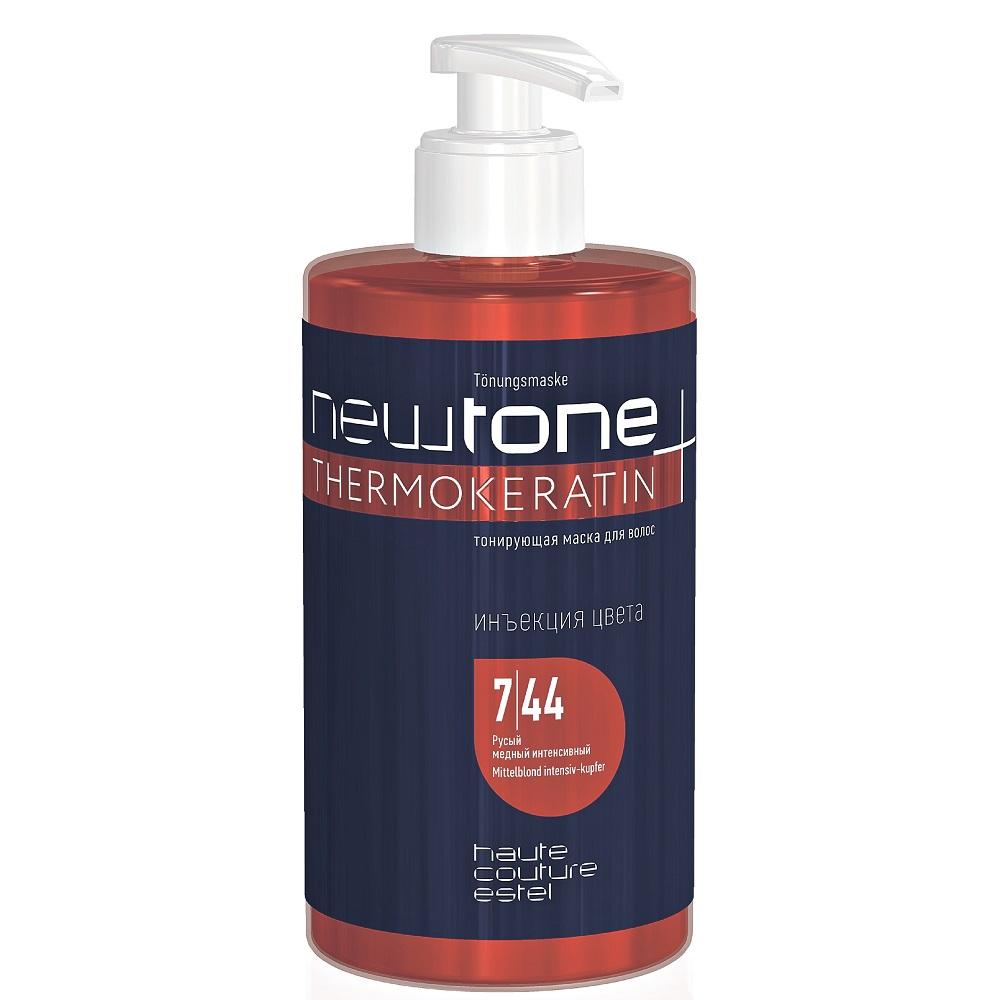ESTEL Newtone Thermokeratin 7/44 Тонирующая маска для волос Русый медный интенсивный, 435мл
