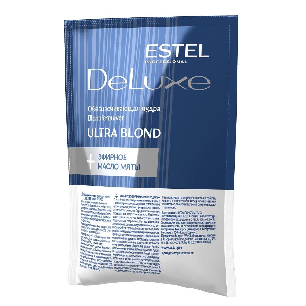 Estel De Luxe Ultra Blond Обесцвечивающая пудра для волос, 30 г