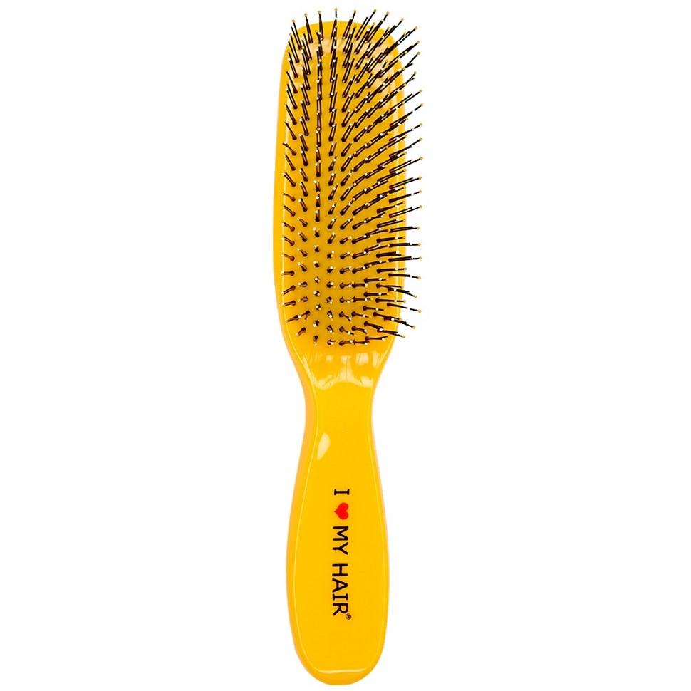 I LOVE MY HAIR Spider Щетка желтая глянцевая Средняя