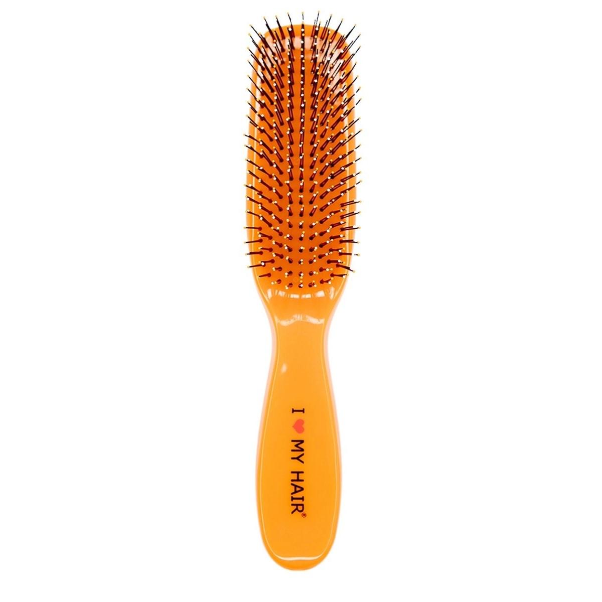 I LOVE MY HAIR Spider Щетка оранжевая глянцевая Средняя