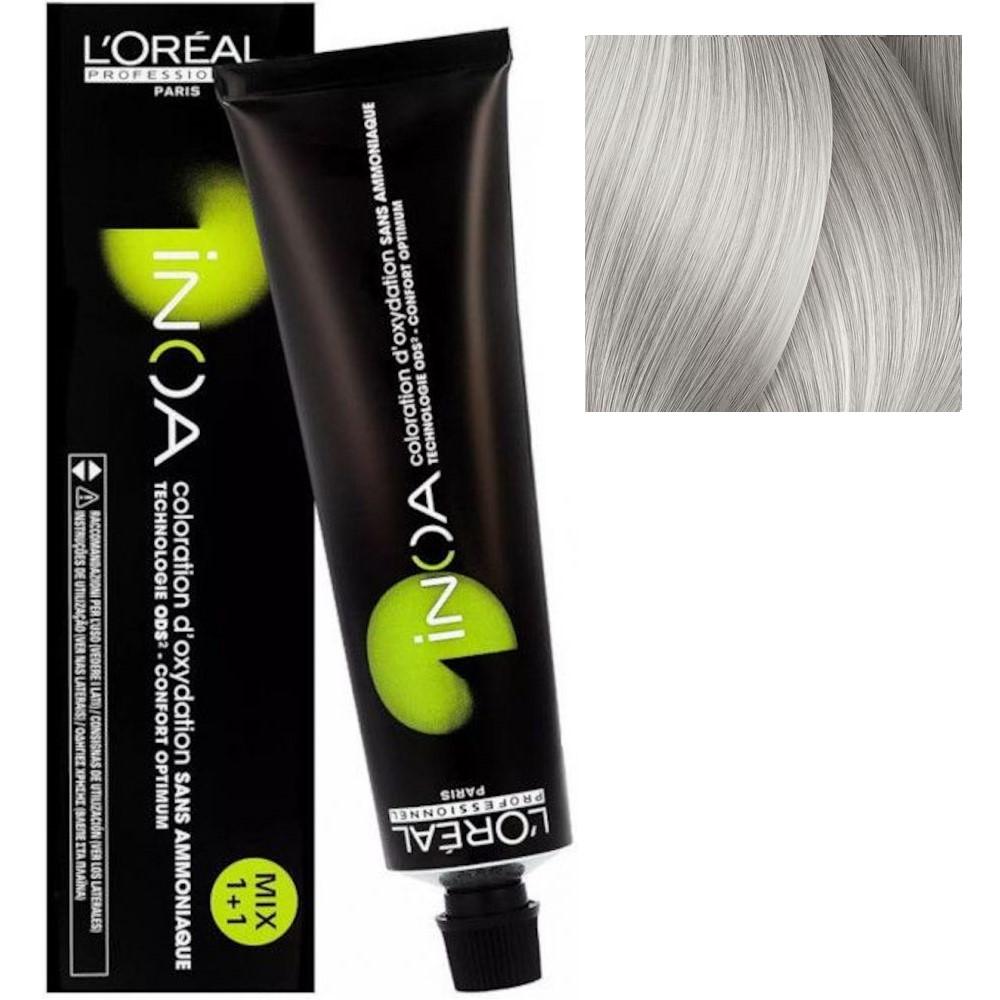 L'Oreal INOA 10.1 Яркий блонд пепельный Стойкая краска для волос без аммиака, 60г