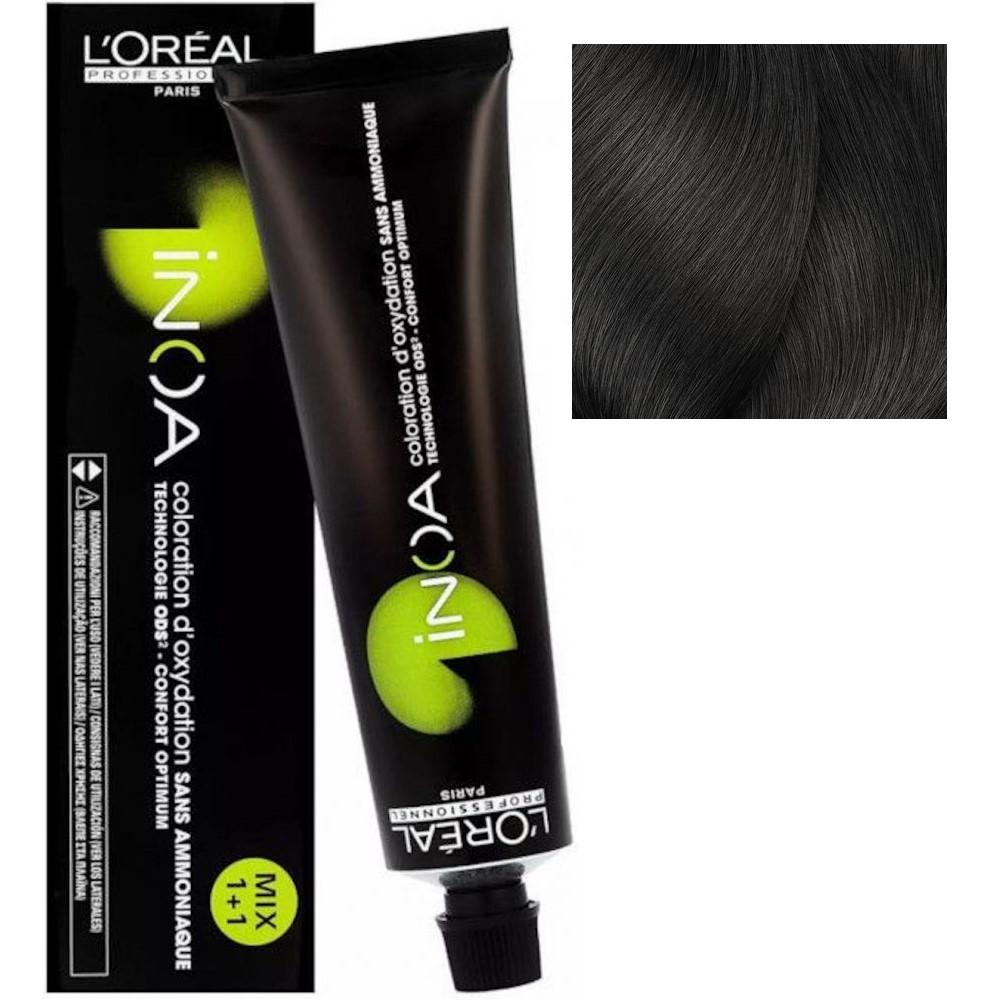 L'Oreal INOA 4.0 Шатен глубокий Стойкая краска для волос без аммиака, 60г