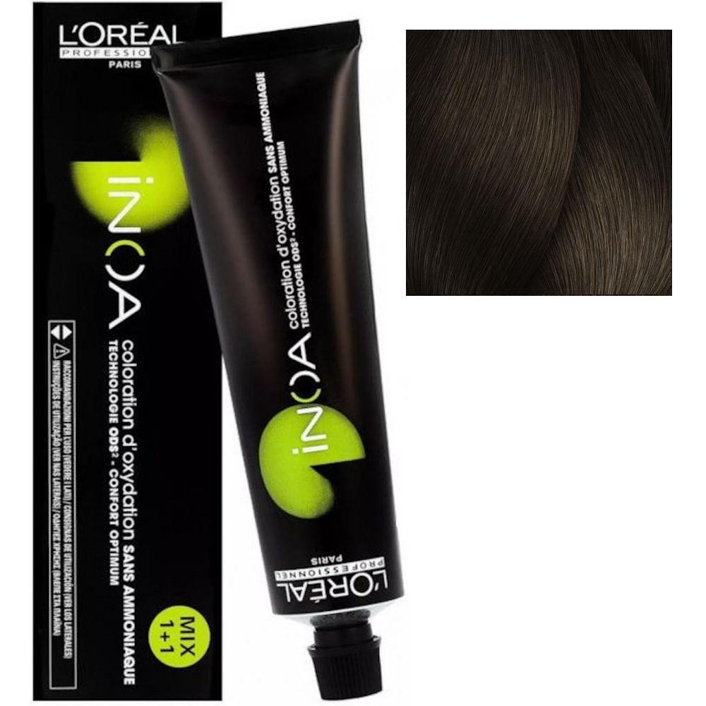 L'Oreal INOA 6.32 Темный блонд золотистый перламутровый Стойкая краска для волос без аммиака, 60г