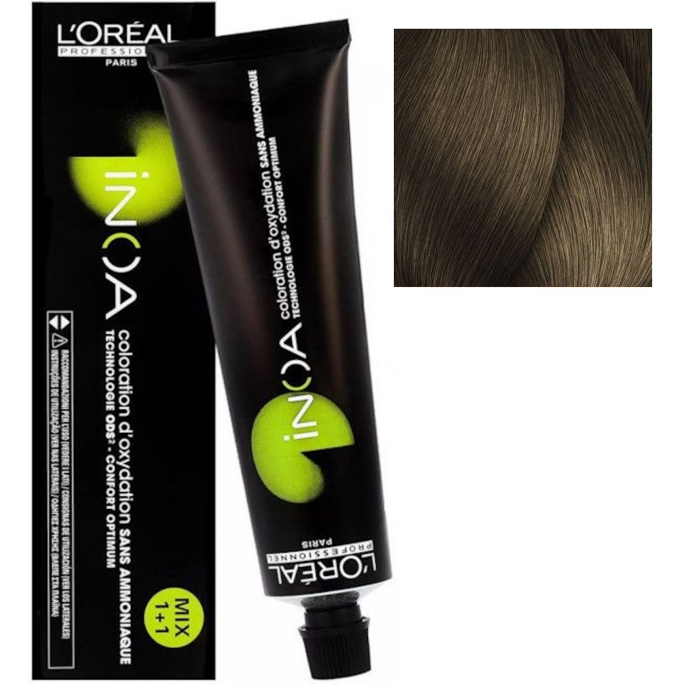 L'Oreal INOA 7.0 Блонд глубокий Стойкая краска для волос без аммиака, 60г