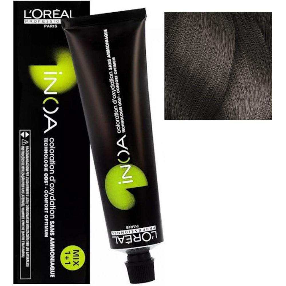 L'Oreal INOA 7.1 Блонд пепельный Стойкая краска для волос без аммиака, 60г