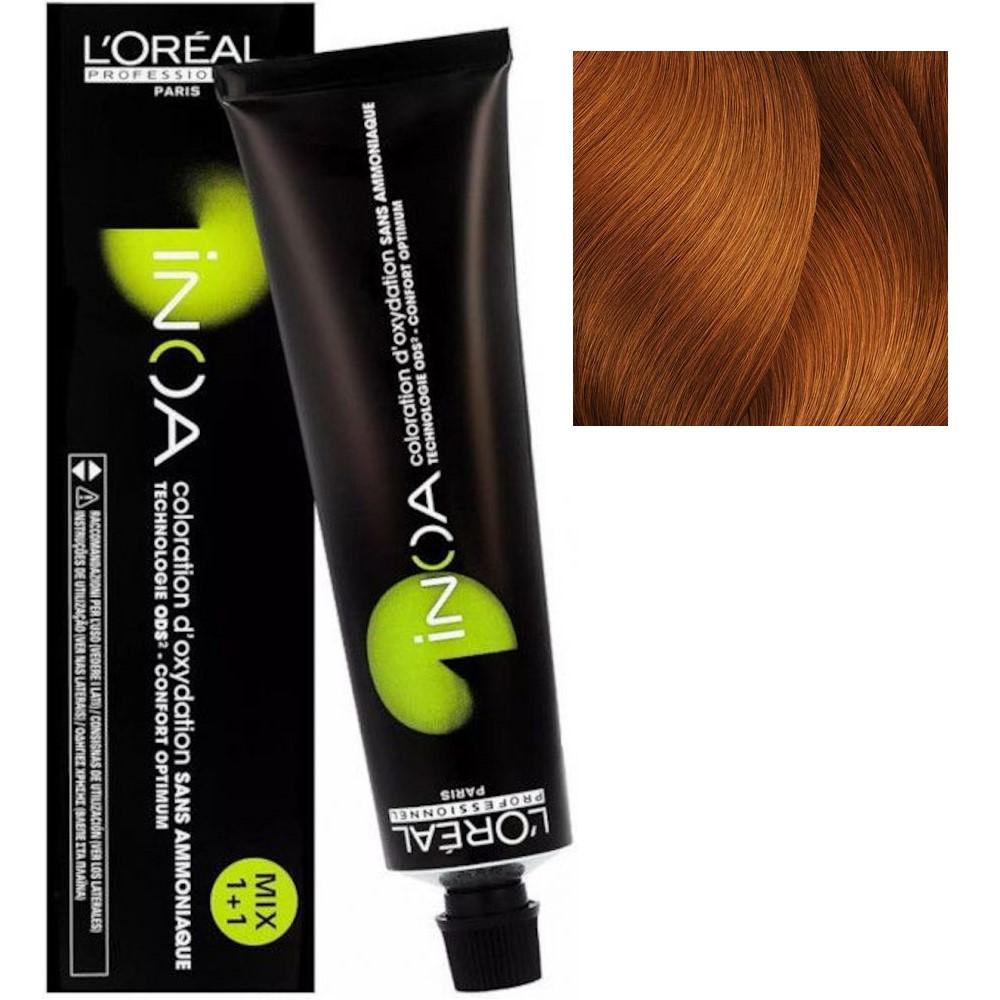 L'Oreal INOA 7.43 Блонд медный золотистый Стойкая краска для волос без аммиака, 60г