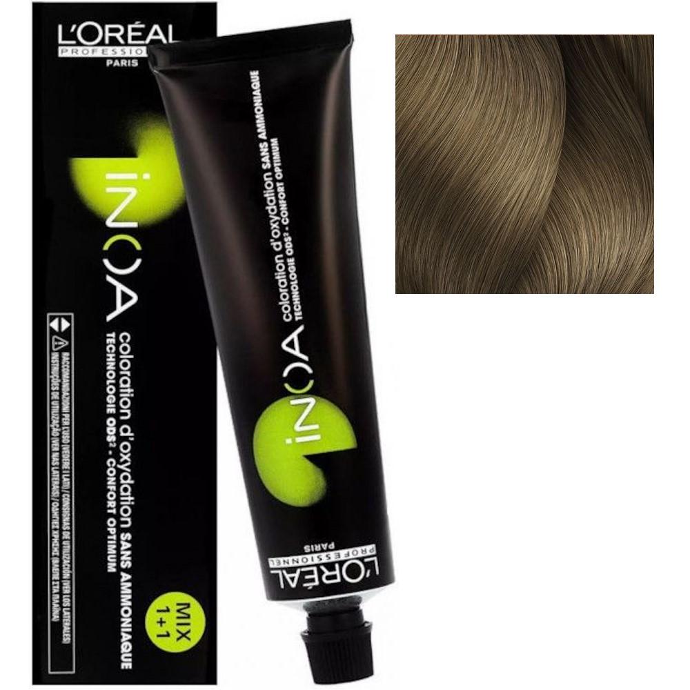 L'Oreal INOA 8.0 Светлый блонд глубокий Стойкая краска для волос без аммиака, 60г