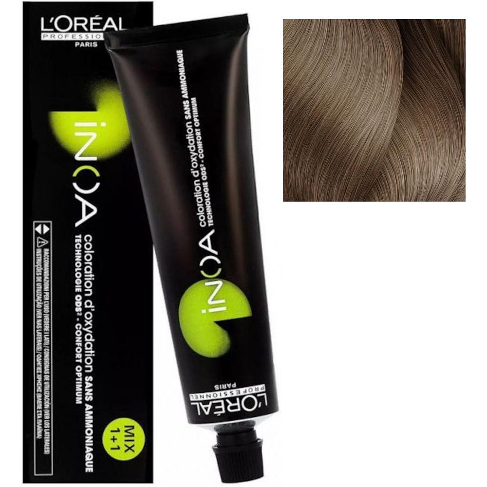 L'Oreal INOA 9.12 Очень светлый блонд пепельный перламутровый Стойкая краска для волос без аммиака, 60г