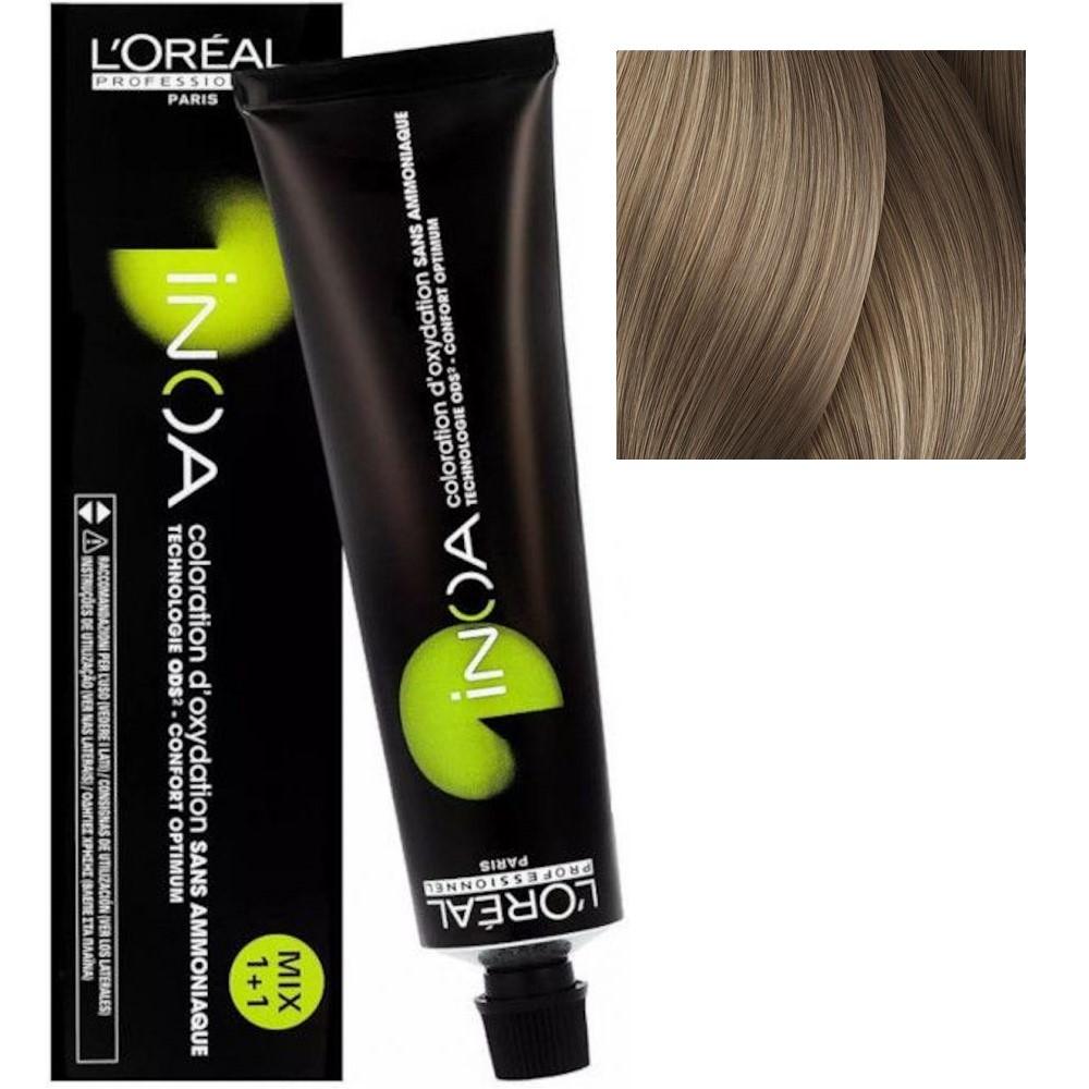 L'Oreal INOA 9.2 Очень светлый блонд перламутровый Стойкая краска для волос без аммиака, 60г