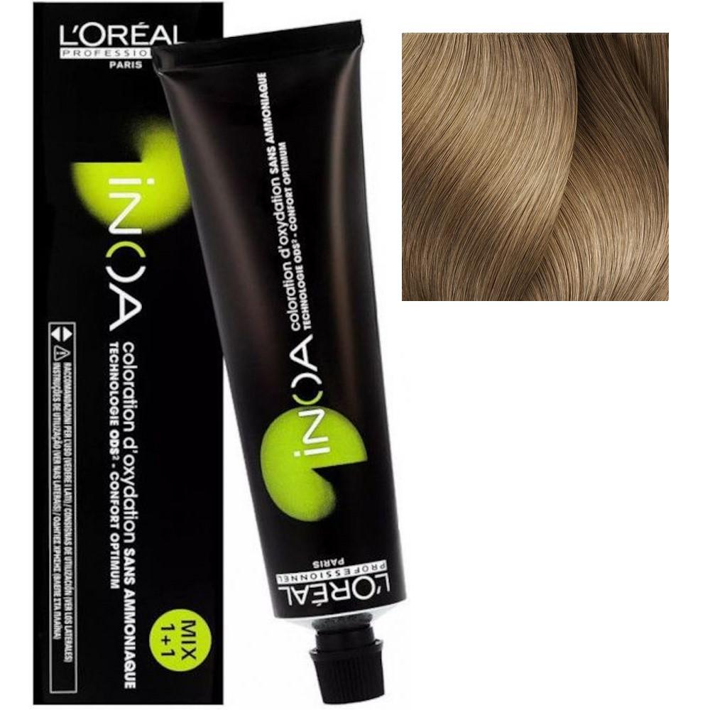 L'Oreal INOA 9.8 Очень светлый блонд мокка Стойкая краска для волос без аммиака, 60г