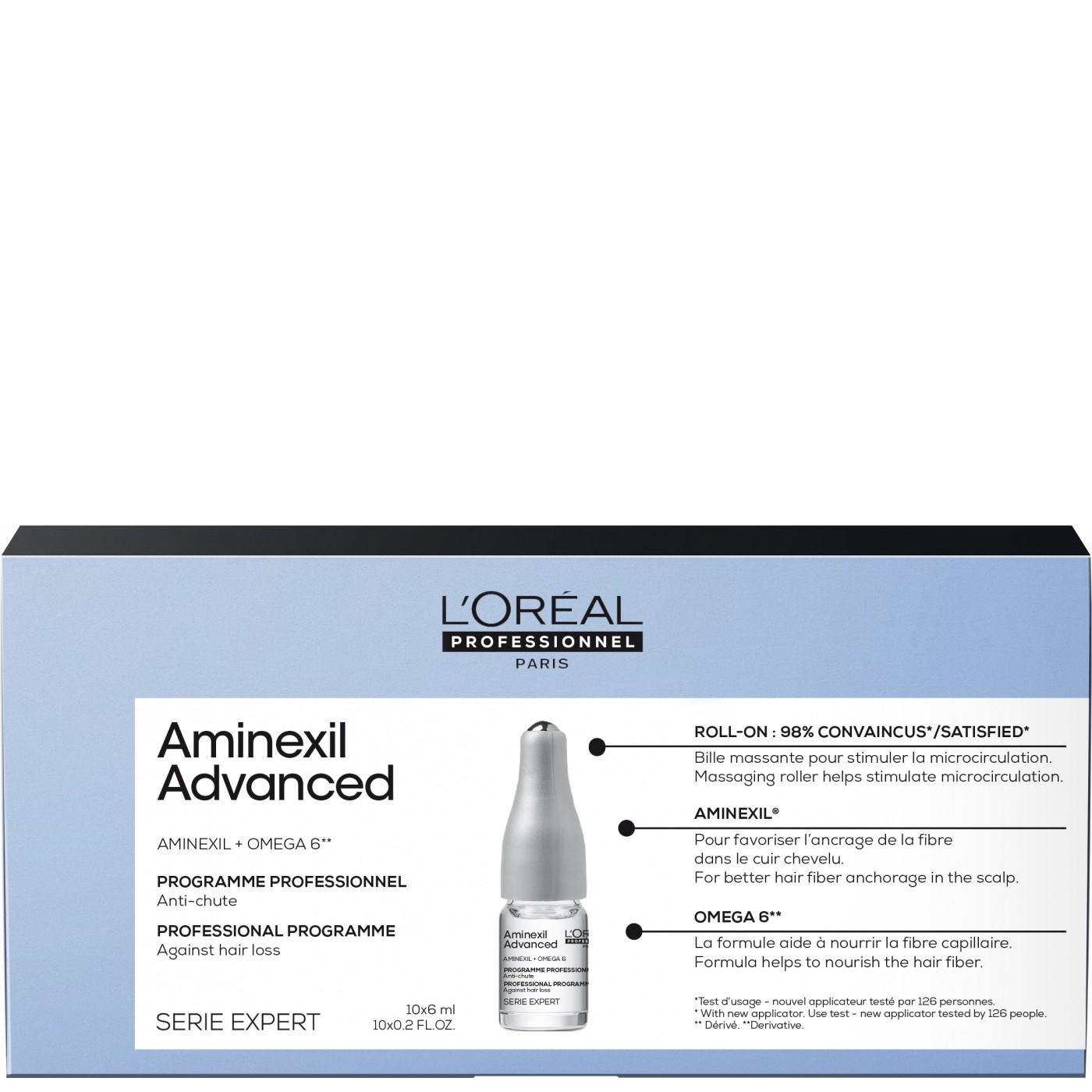 L'Oreal Scalp Ампулы против выпадения волос Aminexil Advanced, 10шт.х6мл