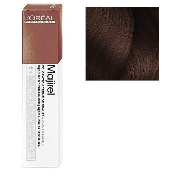 L'Oreal Majirel 6.025 Темный блондин натуральный перламутровый махагоновый  Крем-краска для волос, 50мл