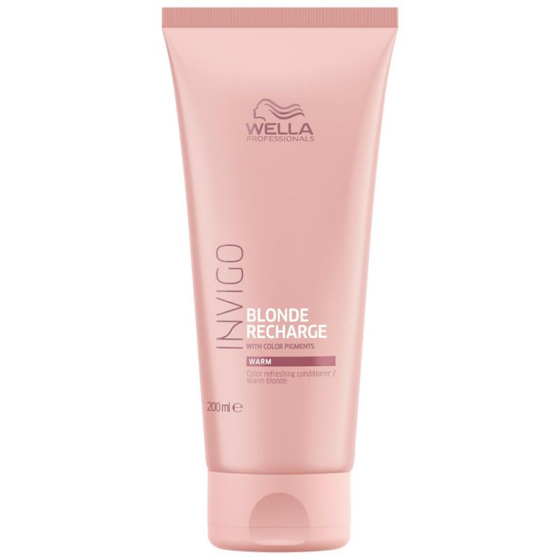 Wella Invigo Blonde Recharge Оттеночный бальзам-уход для теплых светлых оттенков волос, 200мл