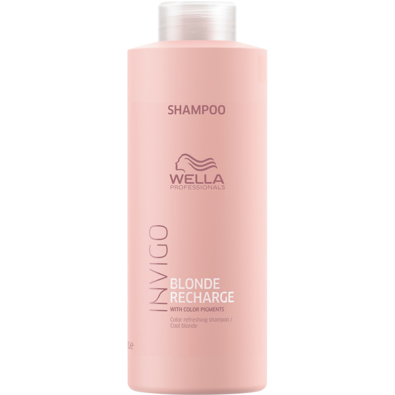 Wella Invigo Blonde Recharge Шампунь-нейтрализатор желтизны, 1000мл
