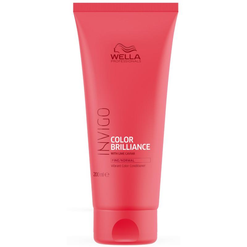Wella Invigo Color Brilliance Бальзам-уход для окрашенных нормальных и тонких волос, 200мл
